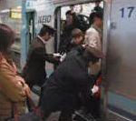 vidéo ratp chinoise japonaise metro bonde japon heure de pointe jour de grève entasser sardine