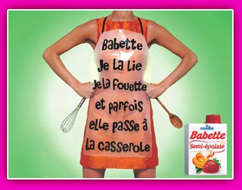 image campagne publicitaire publicite sauce babette lie fouette parfois casserole
