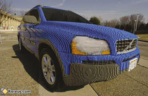 image voiture volvo en lego