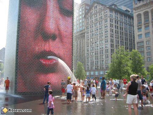 image rigolo fontaine affiche bouche humour insolite
