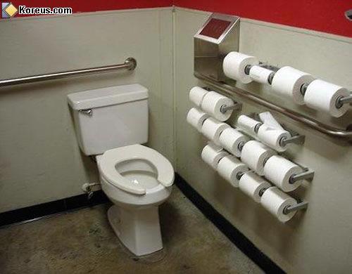 image rigolo rouleaux hygénique toilettes humour insolite