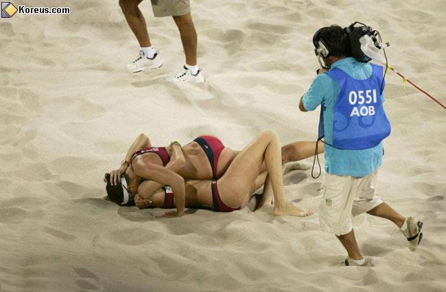 image rigolo jeux olympique beach voley feminin humour insolite