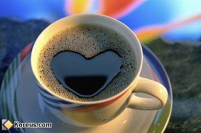 image caf� en forme de coeur hommes femmes humour insolite