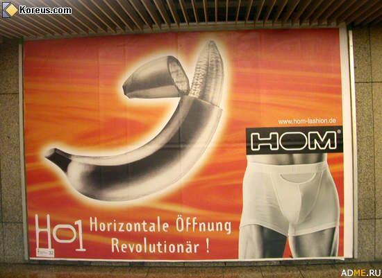 image pub hom banane hommes femmes humour insolite